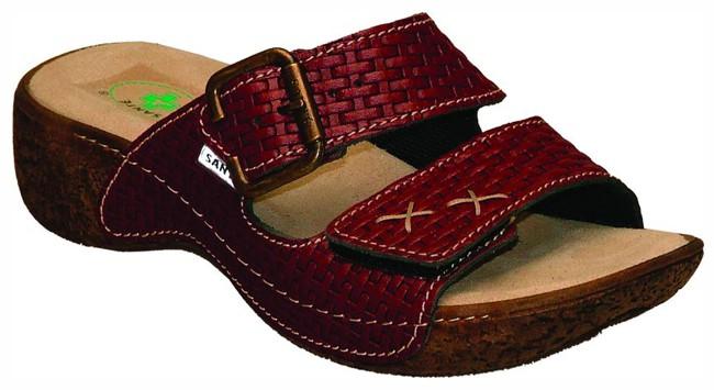Dámské vínové pantofle SANTÉ N109 1 3 c11e4d1d52